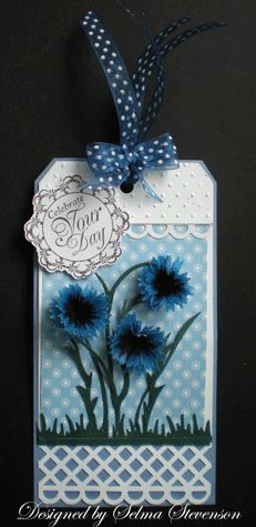 Selma's Stamping Corner and Floral Designs: Bachelor Button Tutorial and Tag Challenge