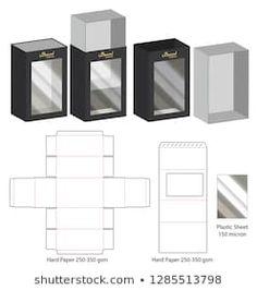 Images, photos et images vectorielles de stock de Box Template Cardboard Box Crafts, Easy Paper Crafts, Diy Gift Box, Diy Box, Box Packaging, Packaging Design, Paper Box Template, Origami Templates, Box Templates