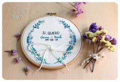 Embroidery- Bordado: bastidor porta alianzas
