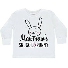 inktastic This Bunny Loves Her Meemaw with Bunny Face and Toddler T-Shirt