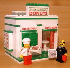 Custom Donut Shop for Town City Train Police Food Lego Doughnut Restaurant Set | eBay