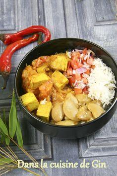 Rougail de tofu fumé Recette végétalienne Ile de la Réunion