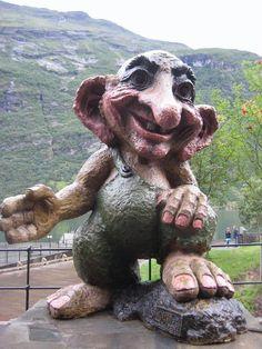 Geiranger troll, Norway.