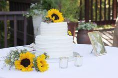 sunflower cake via shayla lilian photography: ABIGAYLE AND MO'S WEDDING