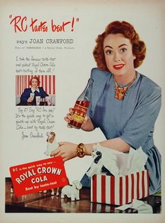 RC Cola. before she sat on the board of Pepsi Cola  Show me the Dr. Pepper!