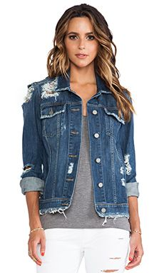 Paige Denim Heidi Oversized Jacket in Lombard Destructed | REVOLVE