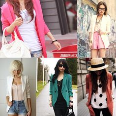 I love blazers Summer Blazer, Colored Blazer, Must Haves, Kimono Top, Runway, Hair Beauty, My Style, Blazers, Inspiration