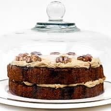 Austrian Coffee and Walnut Cake with Coffee Cream