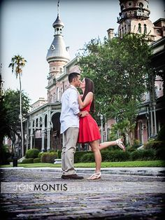 www.JonMontisPhotography.com Jenny And Adam - University Of Tampa Engagement Session