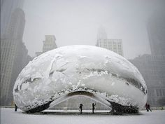 Snow covered in Chicago, The Bean
