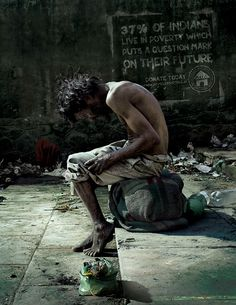 in Aashray Adhikar Abhiyan: of Indians live in poverty which puts a question mark on their future. World Poverty, Poverty And Hunger, Homeless People, World Problems, Helping The Homeless, Question Mark, Public Service, People Of The World, Change The World