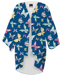 Madam Butterflies print Kimono from Saytoons #customfashion #PAOM