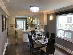 63 Beck Dr, Markham Ontario   MLS Markham Ontario, Quartz Backsplash, Houses, Modern, Kitchen, Table, Furniture, Home Decor, Homes