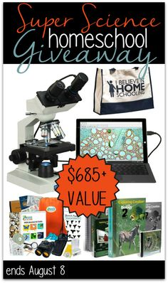 Exploration, biology and more in this awesome #homeschool giveaway that includes a microscope with camera!!!