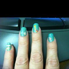 Aquarium finger nails