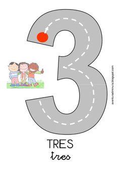 Números carreteras para grafomotricidad aventuradiminuta Teaching Numbers, Numbers Preschool, Math Numbers, Kindergarten Math, Teaching Math, Preschool Activities, Counting Activities, Educational Activities, Math Games