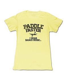 Lemon 'Paddle Faster' Tee | zulily