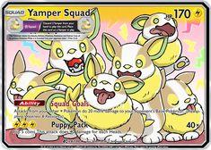Yamper Squad Custom Pokemon Card Pokemon Names, Cool Pokemon Cards, Rare Pokemon Cards, My Pokemon, Pokemon Fusion, Pikachu, Cute Pokemon Wallpaper, Naruto Wallpaper, Greninja Card