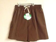 Girl Scouts Brownies Shorts Brown Medium Large Uniform New!  #GirlScouts #Shorts #Brownies