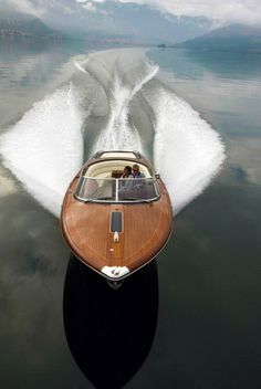 Beautiful wooden boat