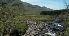 Tour Scotland photograph of Sgùrr Thuilm mountain on ancestry visit to the Glenfinnan area of the Scottish Highlands of Scotland . Sgùrr Thu...
