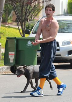 Jon Bernthal (Walking Dead) and his pit bull. Yes please.