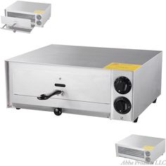 "Commercial Restaurant 18"" Countertop Single Pizza Toaster Oven Stainless Steel #Unbranded"