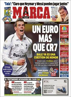 Los Titulares y Portadas de Noticias Destacadas Españolas del 27 de Julio de 2013 del Diario Deportivo MARCA ¿Que le pareció esta Portada de este Diario Español?