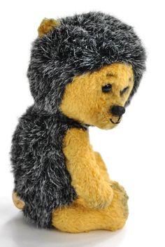Hedgehog artist teddy bear hedgehog - stuffed handmade Artist Teddy Bear Hedgehog Mike