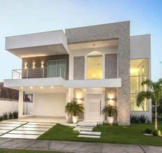 Top 10 Modern house designs – Modern Home House Front Design, Duplex House Design, Dream Home Design, Modern House Design, Facade Design, Exterior Design, Dream House Exterior, House Elevation, Building Elevation