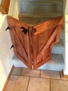 Our Custom Folding Barn Door Baby/Dog Gate is a stylish addition to any home and will keep your children and dogs safe while looking great. Barn Door Baby Gate, Diy Baby Gate, Baby Gates, Barn Doors, Wood Baby Gate, Sliding Doors, Diy Dog Gate, Diy Gate, Baby Barn