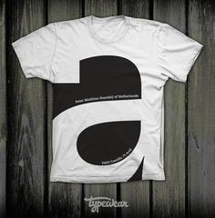 Typographic T-Shirt Design  This is the right t-shirt for all design and type addicts. T-shirt design by Typewear.  via: WE AND THE COLORFacebook // Twitter // Google+ // Pinterest