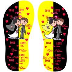 Estampa para chinelo Love 001009