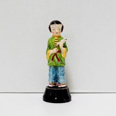 Vintage Ceramic Standing Girl Figurine Made in by FairfaxDavis