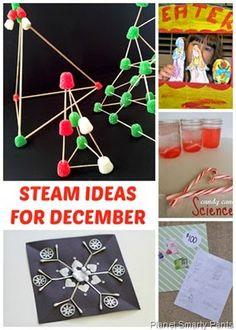 December STEAM Ideas for Kids