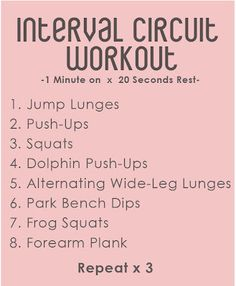 Another Circuit Workout