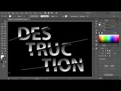 (1) How to Create a Sliced Text Effect in Adobe Illustrator - YouTube