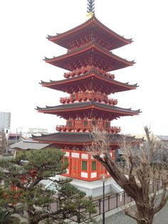 Japanese Temple; I love this style of architecture.