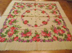 Beautiful Soviet Floral Shawl Vintage от RussianshawlMayya на Etsy