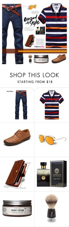 """Newchic 9"" by stileclassico ❤ liked on Polyvore featuring Vuarnet, PENHALIGON'S, Prospector Co., Baxter of California, men's fashion, menswear and promoted"