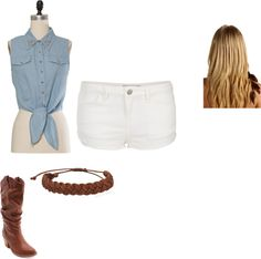 """cow girl"" by kishajacks ❤ liked on Polyvore"