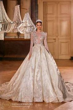 Milla Nova 2021 Spring Bridal Collection – The FashionBrides Beautiful Wedding Gowns, Gowns With Sleeves, Bridal Collection, Formal Dresses, Wedding Dresses, Bridal Gowns, Marie, Ball Gowns, Fashion Looks