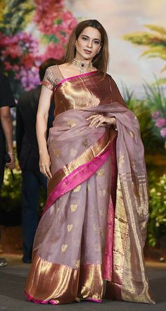 Organza Banarasi butta work saree, choice of modern women only @ www.banarasisilks.com, what'sapp 9423018555 Designer Sarees Collection, Latest Designer Sarees, Saree Collection, Saree Blouse Patterns, Saree Blouse Designs, Indian Sarees, Silk Sarees, Bengal Cotton Sarees, Elegant Saree
