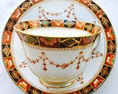Royal Albert Crown China Imari Tea Cup and Saucer