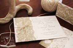 Printable Wedding Invitations - VINTAGE LACE  von Upon A Time Designs auf DaWanda.com
