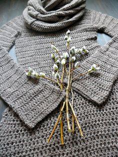 to do :) crochet dress Crochet Scarves, Crochet Clothes, Crochet Hooks, Crochet Sweaters, Easy Crochet, Knit Crochet, Crochet Style, Crochet Fashion, Unique Outfits