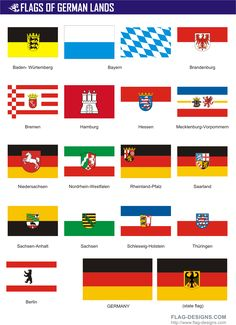 Flags of German Lands   GermanyMore Pins Like This At FOSTERGINGER @ Pinterest