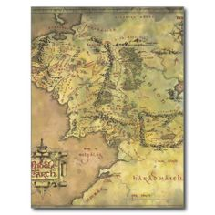 Middle Earth Map Post Card at http://www.zazzle.com/middle_earth_map_post_card-239918018788880615?rf=238505586582342524