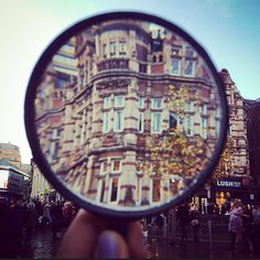 Magnifying glass photography