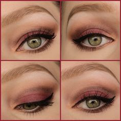 Cranberry fall look  A fall look using cranberry color named 'maple' from the sleek ultra mattes v2 palette on the lid.